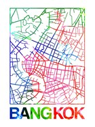 Bangkok Watercolor Street Map