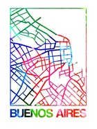 Buenos Aires Watercolor Street Map