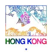 Hong Kong Watercolor Street Map