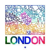 London Watercolor Street Map