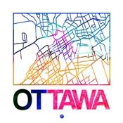 Ottawa Watercolor Street Map