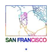 San Francisco Watercolor Street Map
