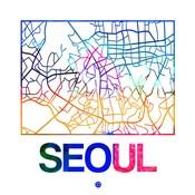 Seoul Watercolor Street Map