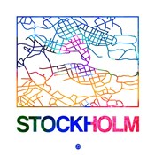 Stockholm Watercolor Street Map