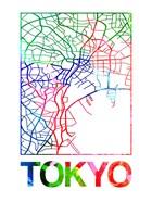 Tokyo Watercolor Street Map