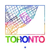 Toronto Watercolor Street Map