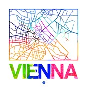 Vienna Watercolor Street Map