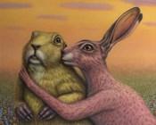 Prairie Dog and Rabbit Couple