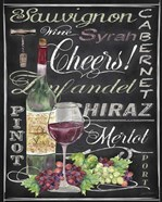 Cheers Wine Art - Black