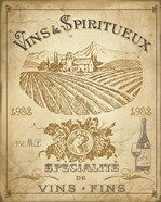 Vintage French Wine Label