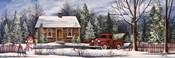 Winter Snowman Truck
