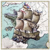 Map Of France As A Ship-1796