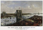 Brooklyn Bridge By Currier and Ives 1885