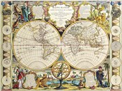 French Map Of The World 1755