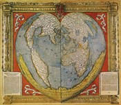 Heart Shaped World Map Stabius-Werner Projection 15