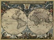 Map of the World by Blaeu 1684