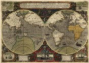 Hondius map of the World 1595