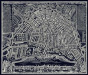 Blueprint Map of Amsterdam 1727