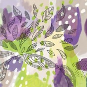 Bright Life I Purple Yellow Line Crop