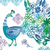 Jewel Peacocks I