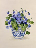 Blue and White Porcelain Violets