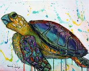 Sea Turtle w/paint splotches