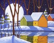 Reflection Winter Night