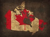 Canada Country Flag Map