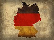 Germany Country Flag Map