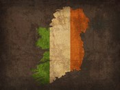 Ireland Country Flag Map