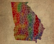 GA Colorful Counties