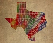 TX Colorful Counties