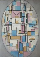 Composition in Oval with Color Planes I, 1914