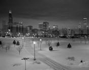 Snowy Chicago Skyline
