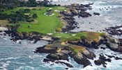 Golf Course on an Island, Pebble Beach Golf Links, California
