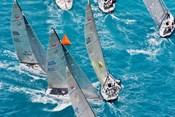 Sailboats in Acura Miami Grand Prix, Miami, Florida