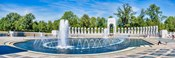 View of Fountain at National World War II Memorial, Washington DC