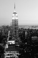 Empire State Building at Sunset, (BW)