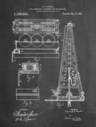 Chalkboard Howard Hughes Oil Drilling Rig Patent