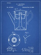 Blueprint Coffee Percolator 1880 Patent Art