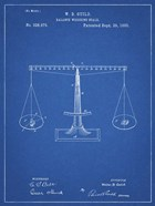 Blueprint Scales of Justice Patent