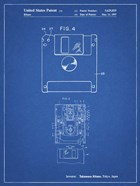 Blueprint 3 1/2 Inch Floppy Disk Patent