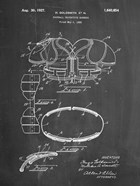 Chalkboard Football Shoulder Pads 1925 Patent