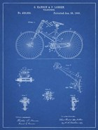 Blueprint Bicycle 1890 Patent
