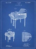 Blueprint Wurlitzer Butterfly Model 235 Piano Patent