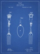 Blueprint Antique Spoon and Fork Patent
