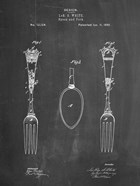 Chalkboard Antique Spoon and Fork Patent