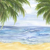 Beach and Palm Fronds II