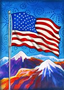 American Flag - Mountains