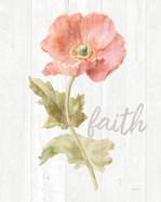 Garden Poppy on Wood Faith